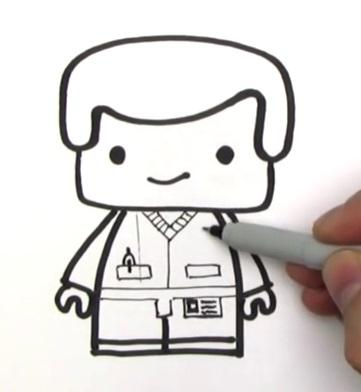 Как нарисовать лего Эммета 12