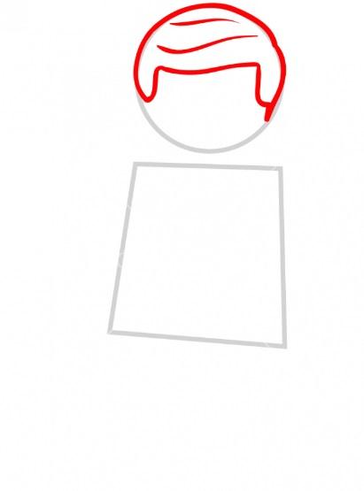 Как нарисовать лего Эммета 2
