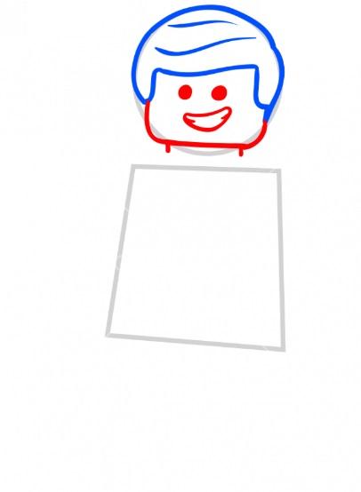 Как нарисовать лего Эммета 3