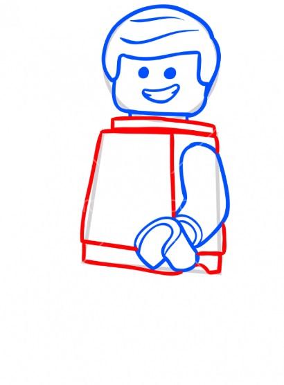 Как нарисовать лего Эммета 5