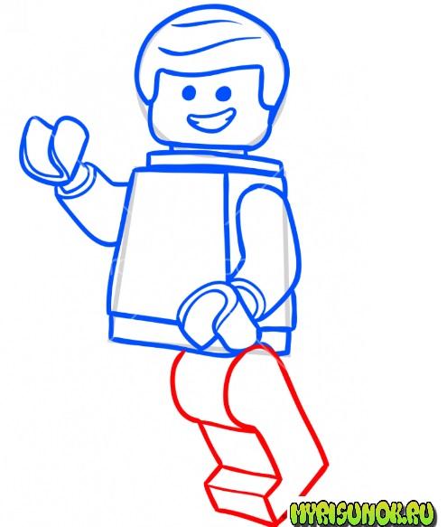 Как нарисовать лего Эммета 6