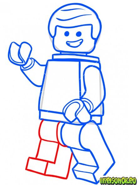 Как нарисовать лего Эммета 7