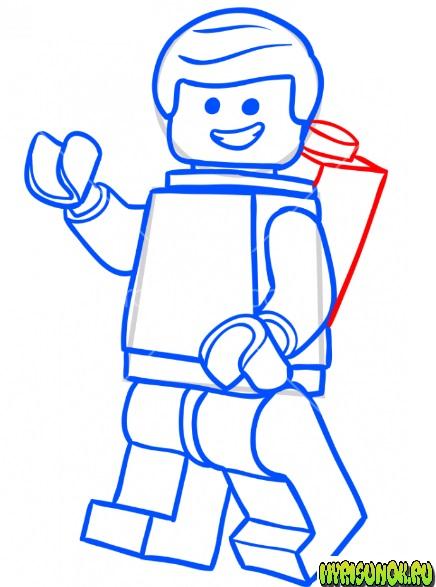 Как нарисовать лего Эммета 8