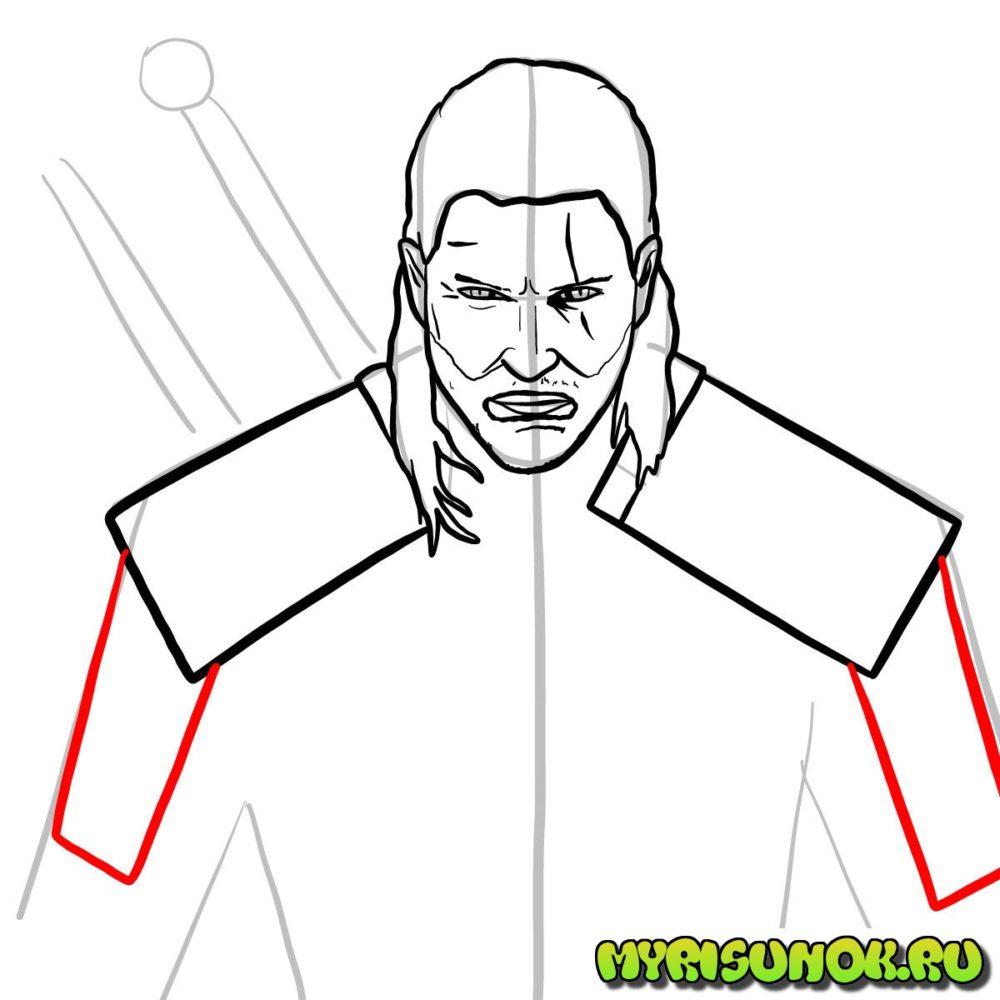 Как нарисовать Геральта 10