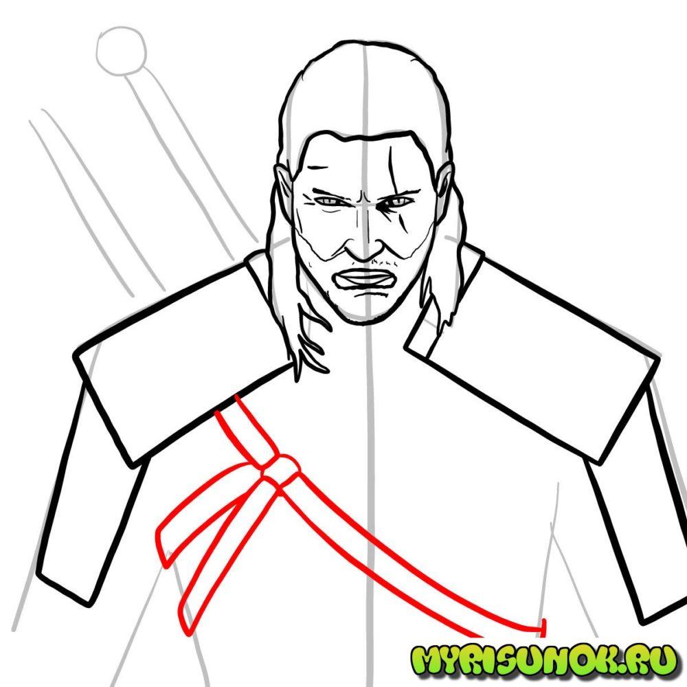 Как нарисовать Геральта 11
