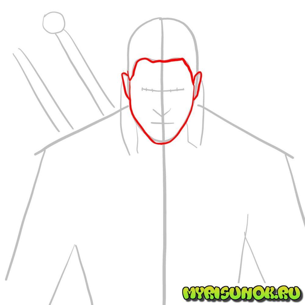 Как нарисовать Геральта 3