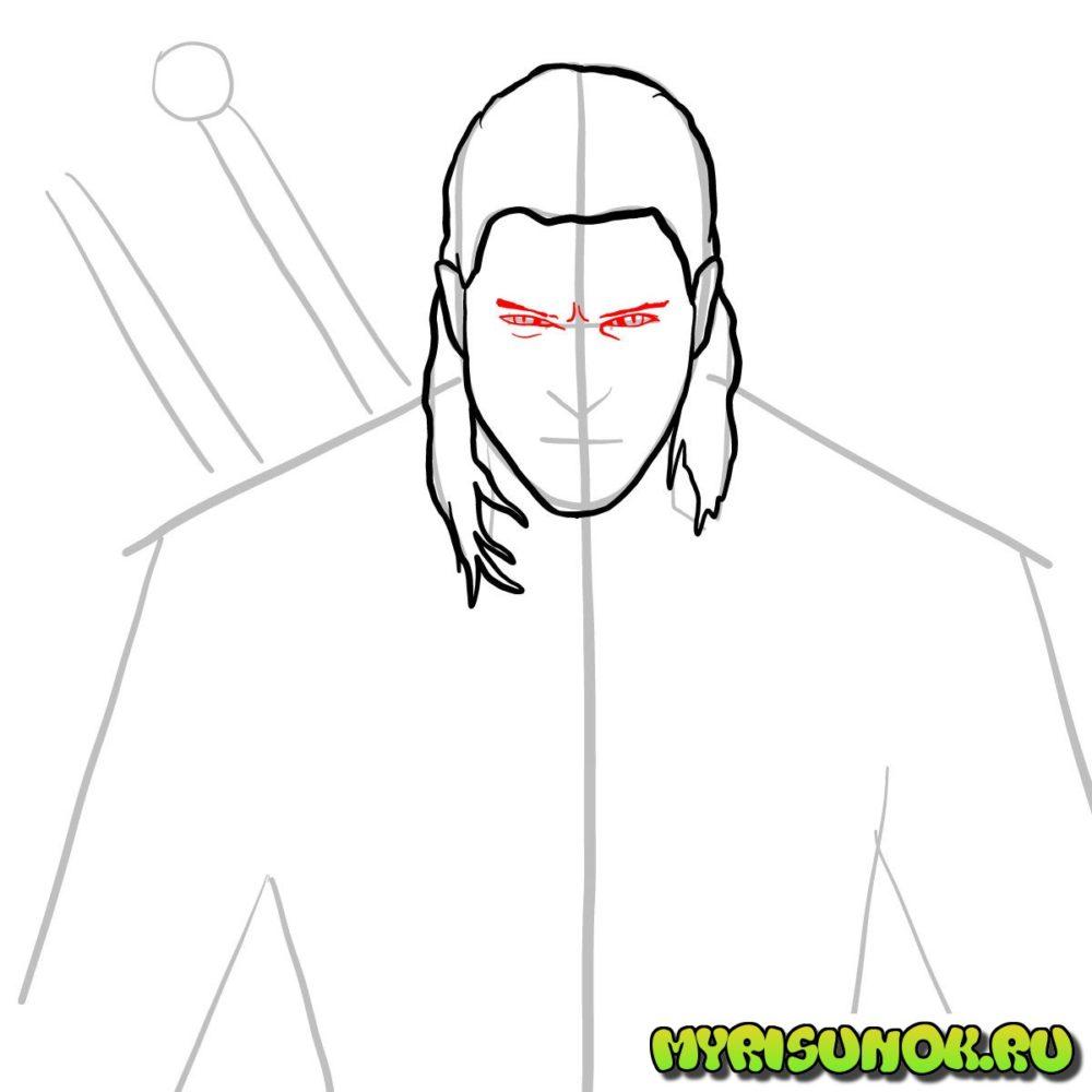 Как нарисовать Геральта 5