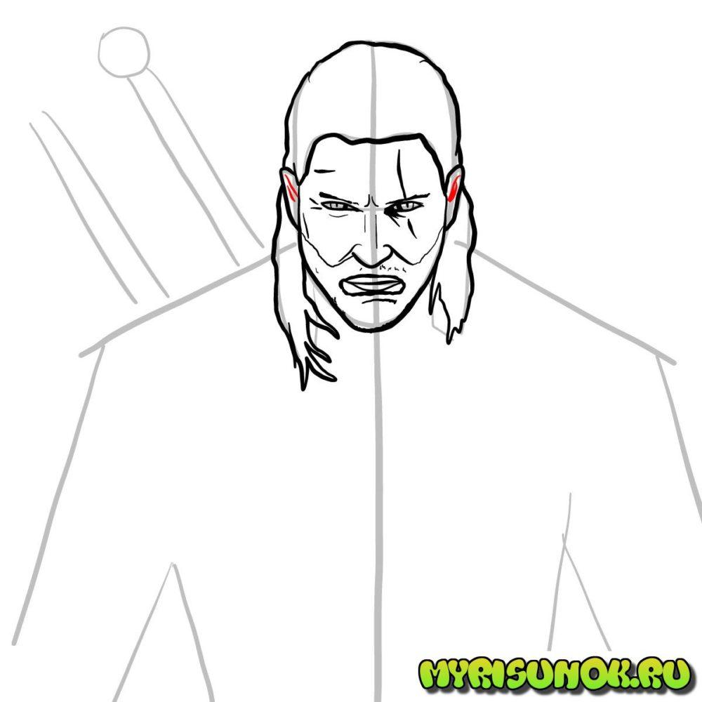 Как нарисовать Геральта 8