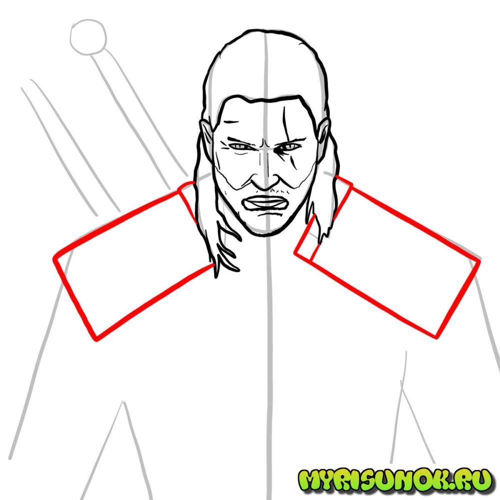 Как нарисовать Геральта 9