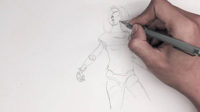 Как нарисовать Алиту 9