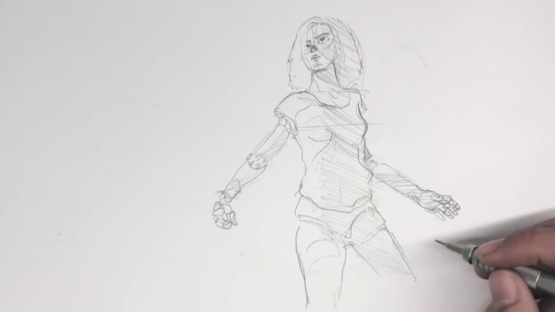 Как нарисовать Алиту 12