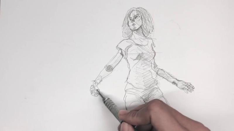 Как нарисовать Алиту 13