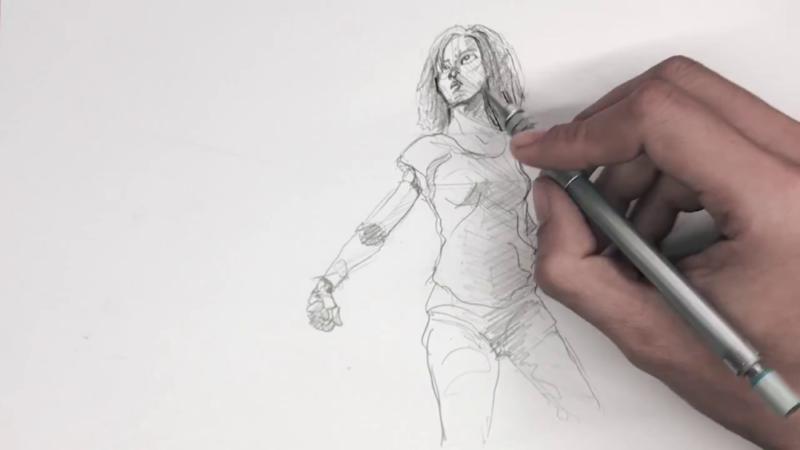 Как нарисовать Алиту 14