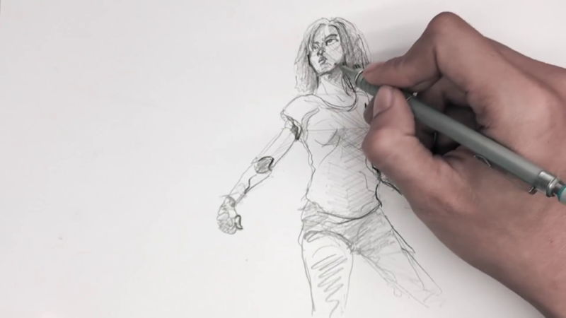 Как нарисовать Алиту 16