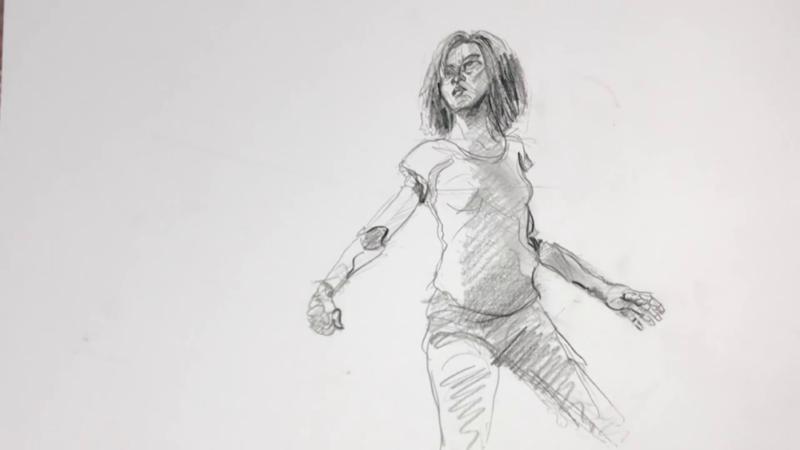 Как нарисовать Алиту 17