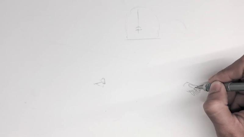 Как нарисовать Алиту 1