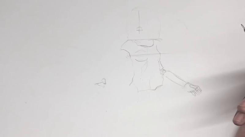 Как нарисовать Алиту 3