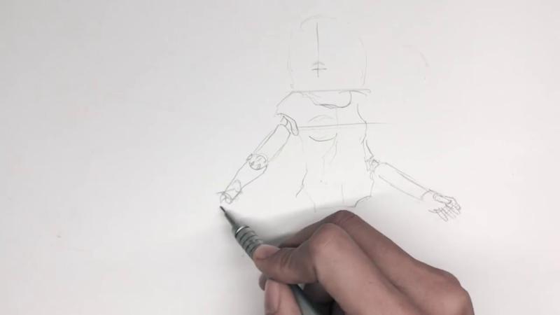 Как нарисовать Алиту 4