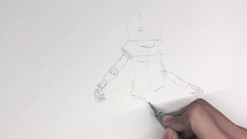 Как нарисовать Алиту 5