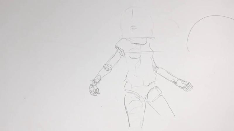 Как нарисовать Алиту 6