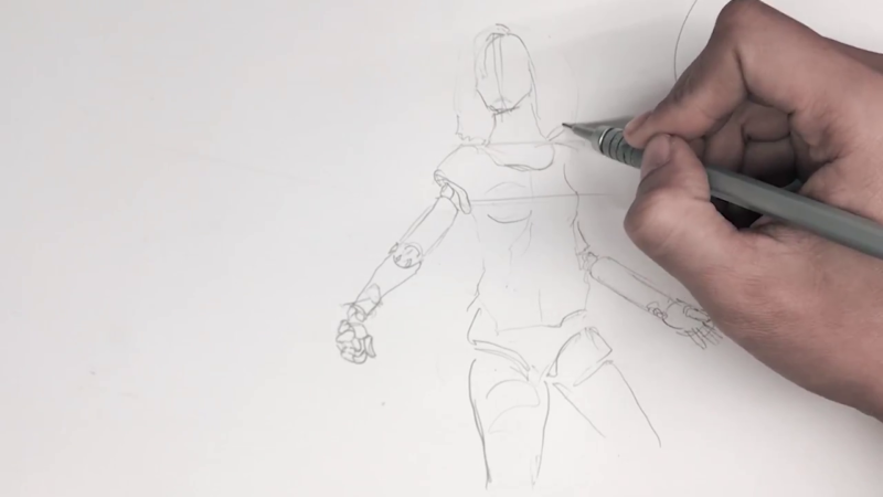 Как нарисовать Алиту 7