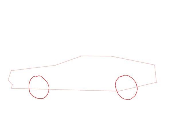 Как нарисовать машину из назад в будущее 3
