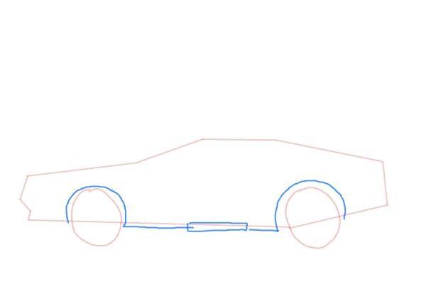 Как нарисовать машину из назад в будущее 4