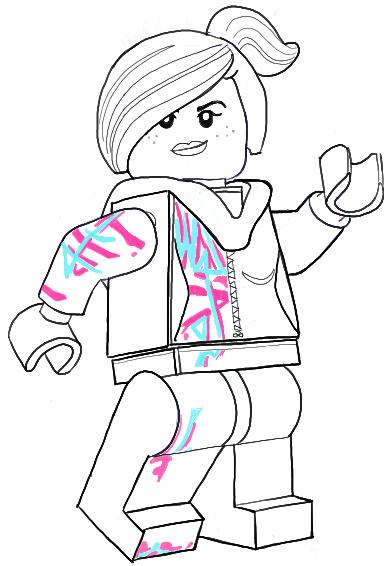 Как нарисовать Дикарку из лего 21