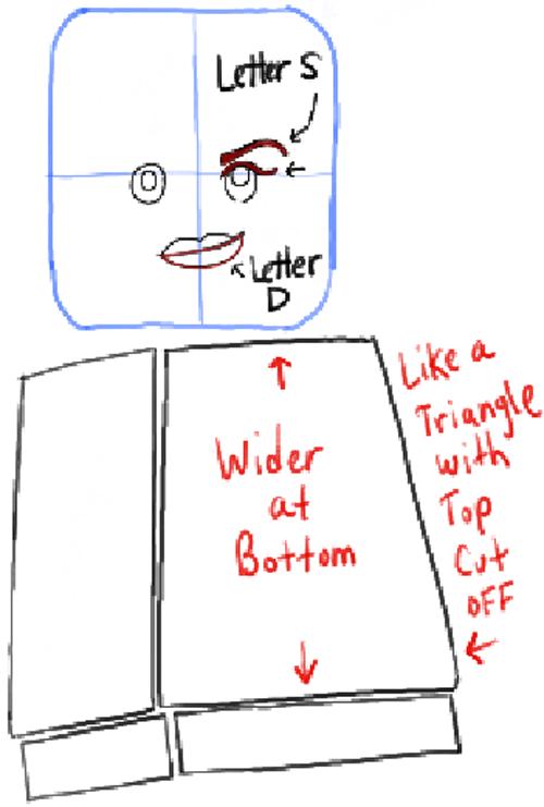 Как нарисовать Дикарку из лего 13