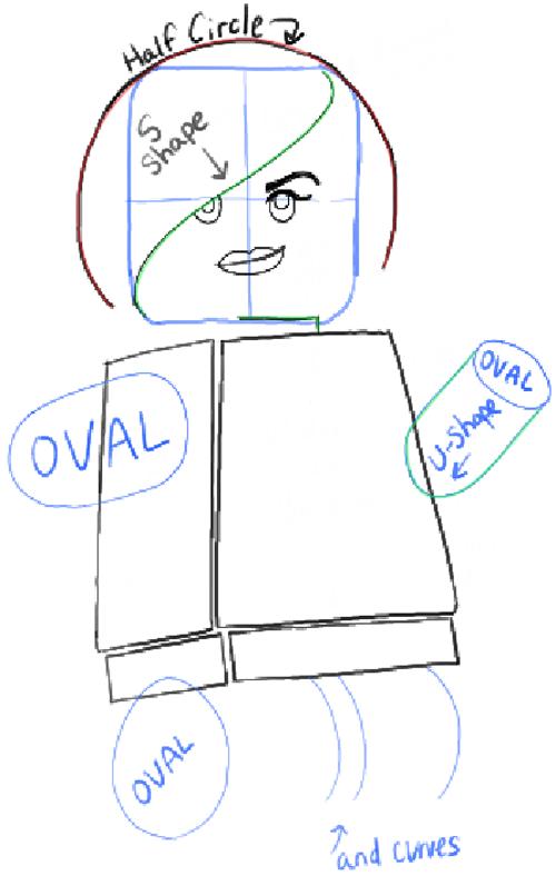 Как нарисовать Дикарку из лего 14