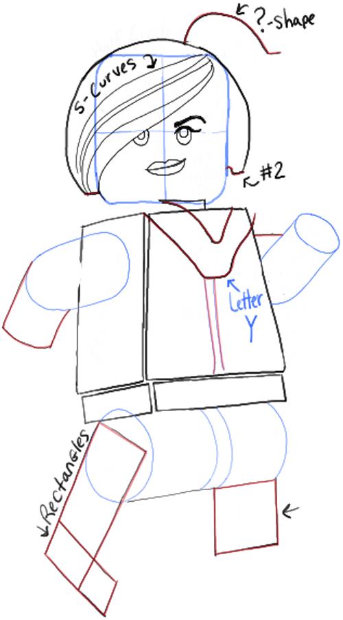 Как нарисовать Дикарку из лего 15