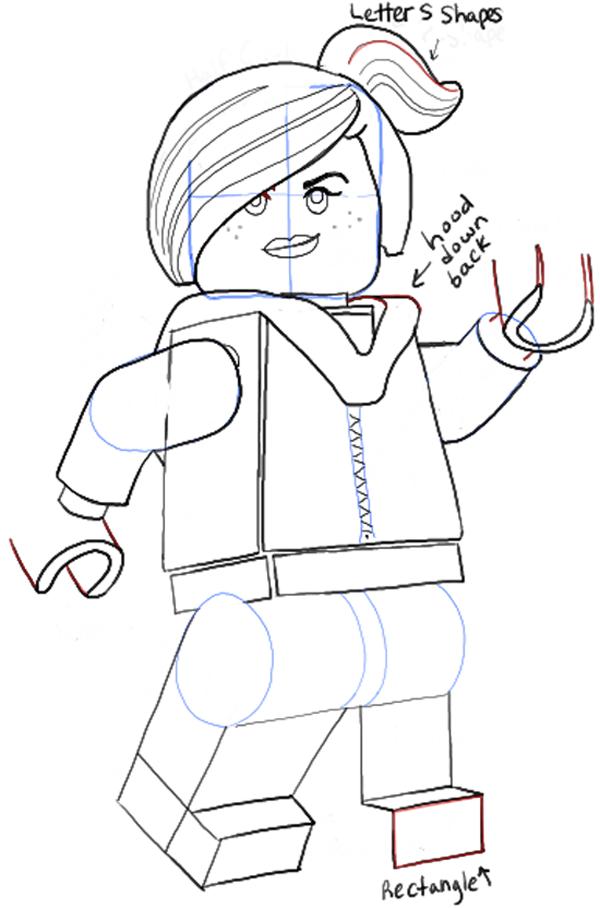 Как нарисовать Дикарку из лего 17