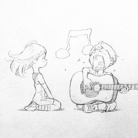 Срисовка влюбленных 1