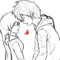 Срисовка влюбленных 10