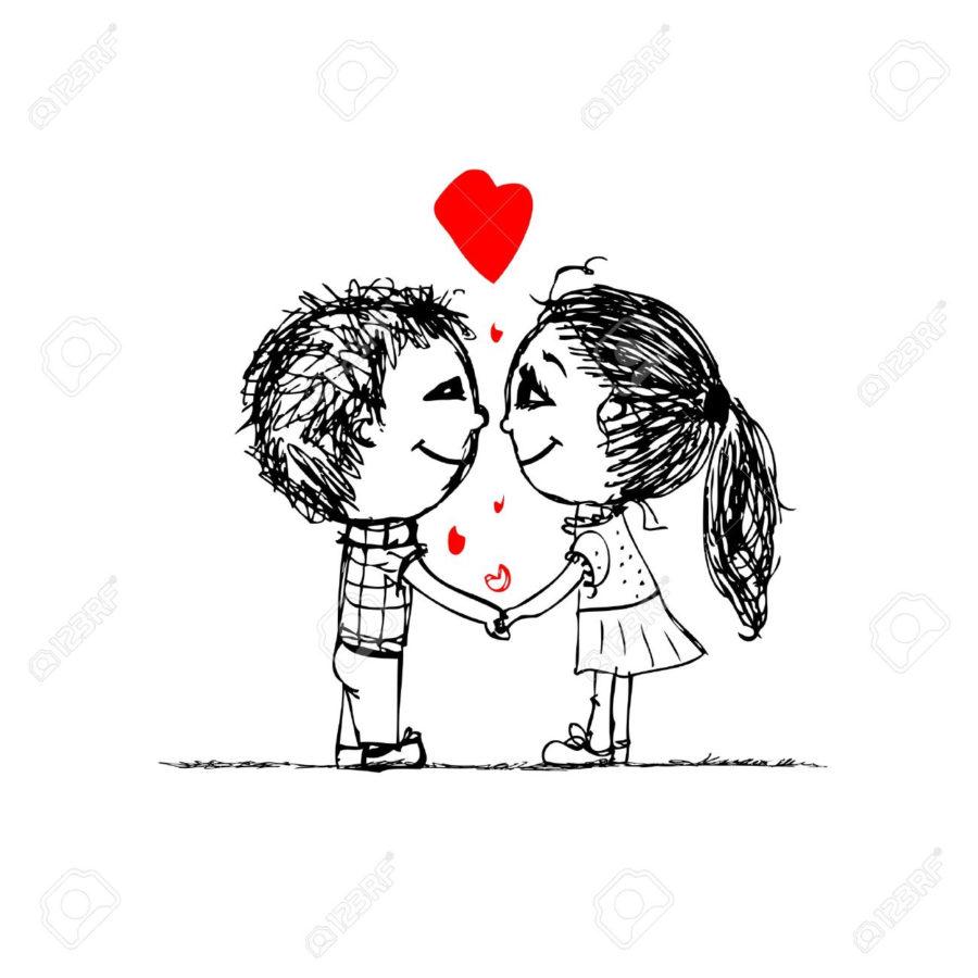 Срисовка влюбленных 14