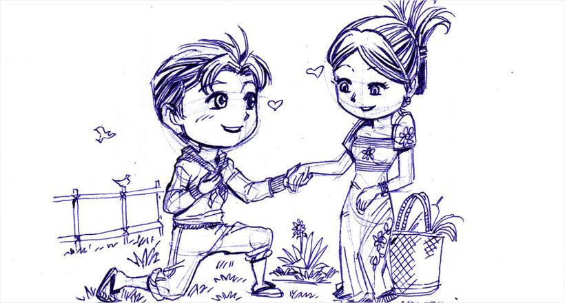 Срисовка влюбленных 16