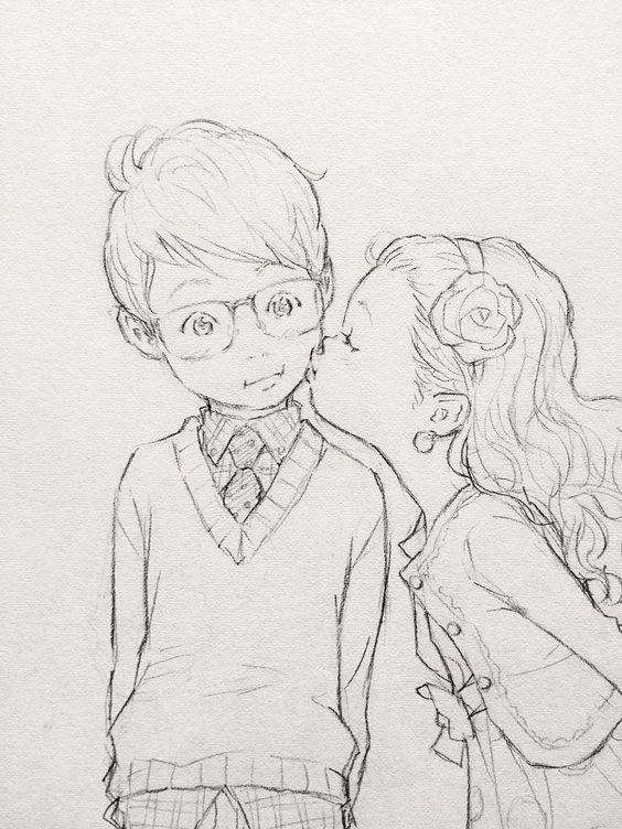 Срисовка влюбленных 2