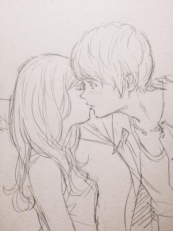 Срисовка влюбленных 4