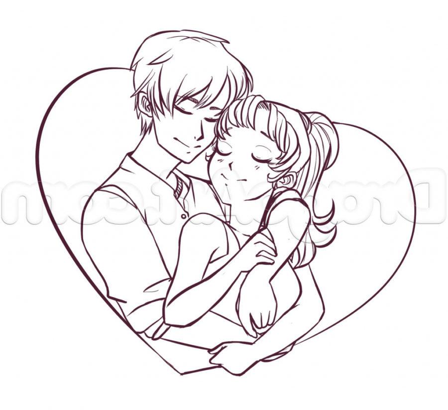 Срисовка влюбленных 8