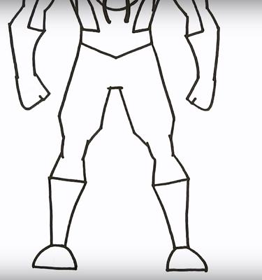 как нарисовать Майлза Моралеса 4