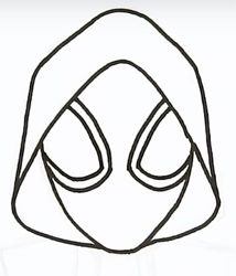 как нарисовать Майлза Моралеса 7