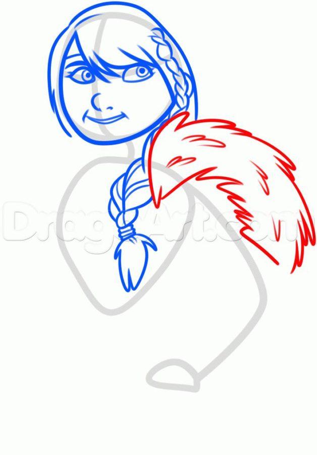 Как нарисовать Астрид 12