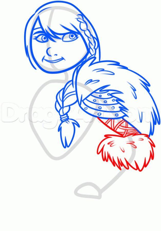 Как нарисовать Астрид 14