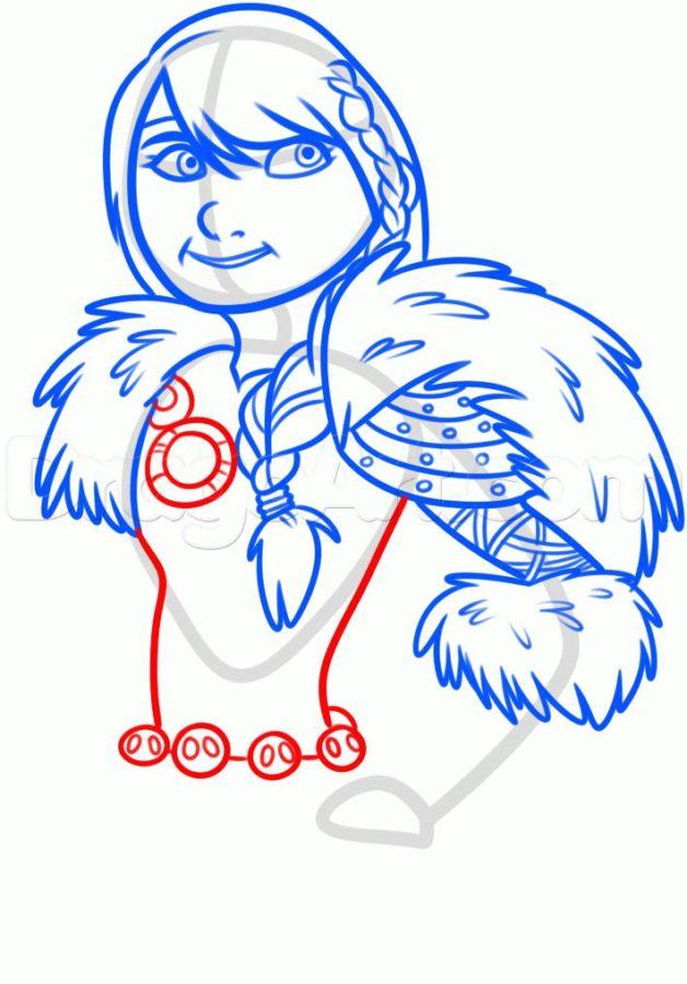 Как нарисовать Астрид 16