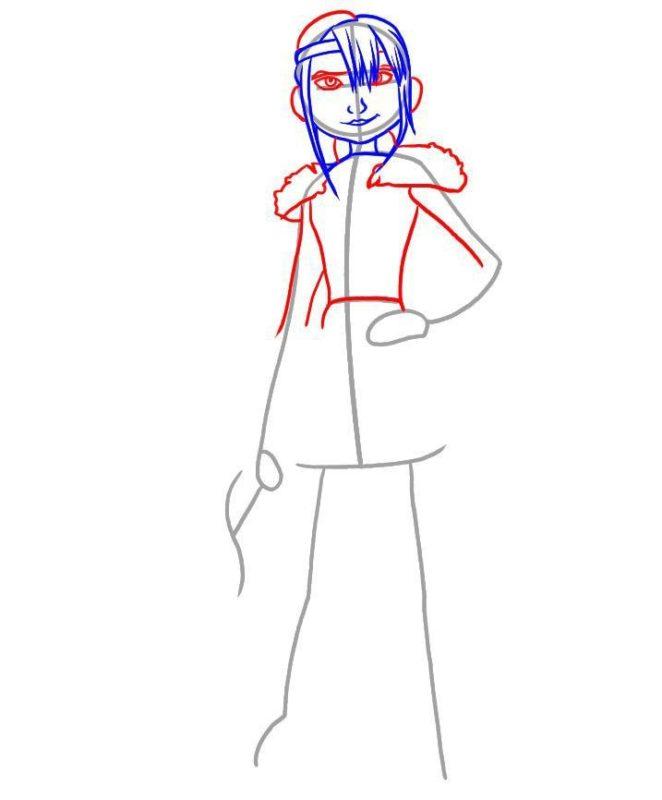 Как нарисовать Астрид 3