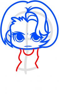 Как нарисовать Мэгги Грин 6