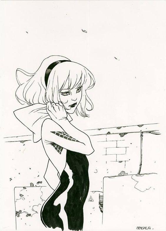 Срисовки Гвен Стейси 17