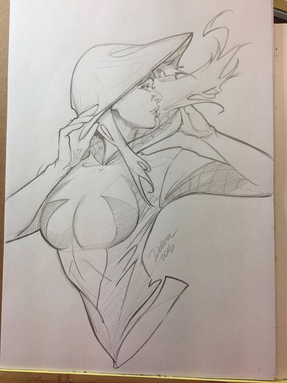 Срисовки Гвен Стейси 5