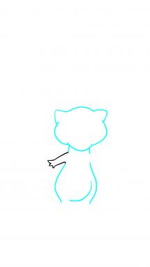 Как нарисовать Мью 3