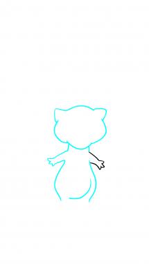 Как нарисовать Мью 4